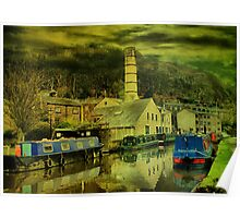 Canal At Hebden Bridge Poster
