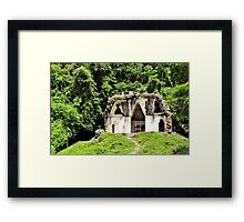 On the Hill Among the Trees Framed Print