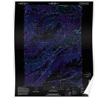 USGS Topo Map Oregon Brown Creek 279156 1994 24000 Inverted Poster