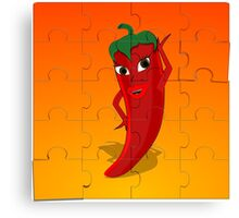 Red Pepper Diva Jigsaw Puzzle Canvas Print