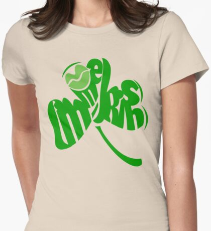 Kiss me I'm Irish Clover Womens Fitted T-Shirt