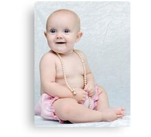 Girls and Pearls Canvas Print