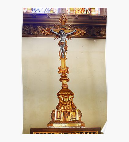 Crucifix - St George's Church, Brede Poster