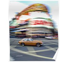 Crossing Picadilly Circus in style Poster