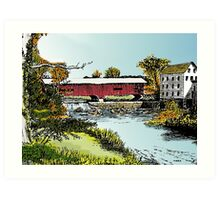 Redman Bridge, Indiana Art Print