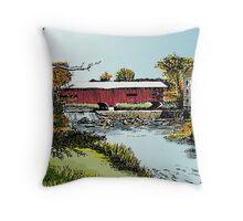 Redman Bridge, Indiana Throw Pillow