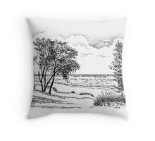 Iniana Dunes, Indiana Throw Pillow