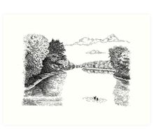 Wabash River, Indiana Art Print