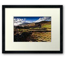 The Cheviot, Northumberland National Park. UK Framed Print