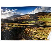 The Cheviot, Northumberland National Park. UK Poster