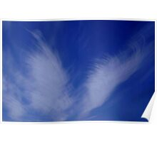BLUE ANGEL WINGS...CLOUDS Poster