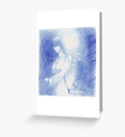 The Tarot: XVIII - The Moon Greeting Card