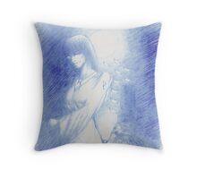 The Tarot: XVIII - The Moon Throw Pillow