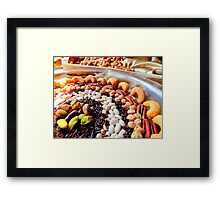 Nuts and Legumes...mmmm Framed Print