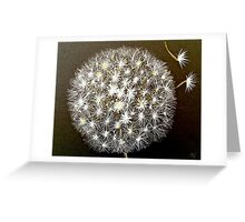 Dandelion puff ball Greeting Card
