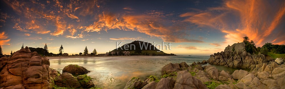 Mount Mauao Rust Dusk by Ken Wright