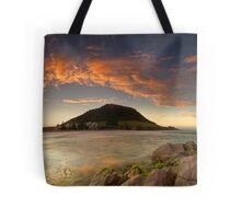 Mount Mauao Rust Dusk Tote Bag