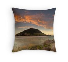 Mount Mauao Rust Dusk Throw Pillow