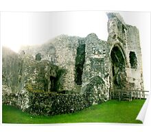 Entrance to Denbigh Castle Poster