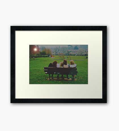 At the end of the day.. Framed Print