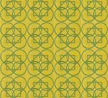 Celtic Circles Tapestry by HKBlack