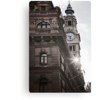 Clock Tower - Martin place Canvas Print