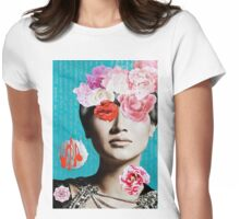Rose Berry Splash Womens Fitted T-Shirt
