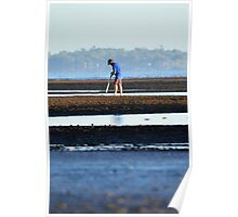 Pipi Pumping on Nudgee Beach Poster