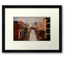 wet day in Freo Framed Print