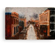 wet day in Freo Canvas Print