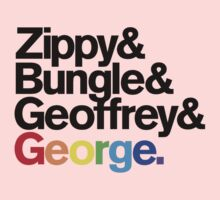 Rainbow - Zippy & Bungle & Geoffrey & George One Piece - Short Sleeve