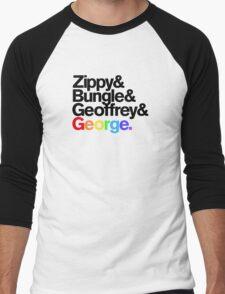 Rainbow - Zippy & Bungle & Geoffrey & George Men's Baseball ¾ T-Shirt