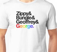 Rainbow - Zippy & Bungle & Geoffrey & George Unisex T-Shirt