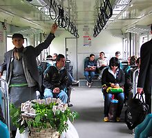 Fruit Seller on the train - Istanbul by Jamie Alexander