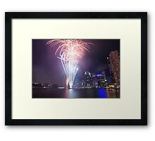 Riverfire in Brisbane | Queensland | Australia Framed Print