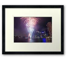 Riverfire in Brisbane | Queensland | Australia Framed Print