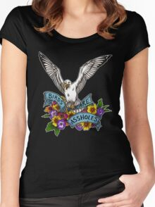 Birds are Assholes Women's Fitted Scoop T-Shirt