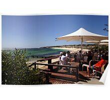 Al Fresco dining beside the ocean Poster