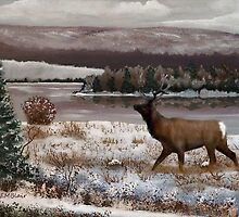 Winter Scenery by EMBlairArtwork