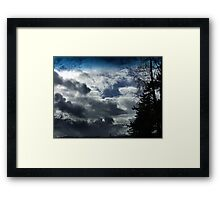 Storm Front Passing Framed Print
