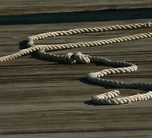 rope and wood by Isa Rodriguez