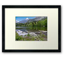 Shore of Lake Maskinonge Framed Print