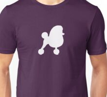 Toy Poodle Silhouette (White with Fancy Haircut) Unisex T-Shirt