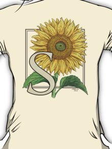 S is for Sunflower T-Shirt