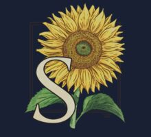 S is for Sunflower - patch by Stephanie Smith