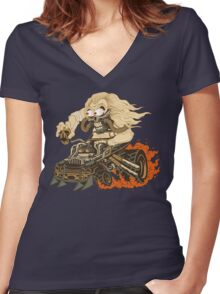 Fury Fink Immortan Joe Women's Fitted V-Neck T-Shirt