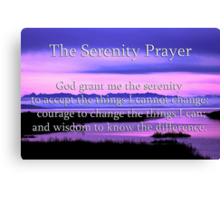 scenic serenity prayer Canvas Print