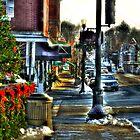 Downtown Chagrin Falls by Marcia Rubin