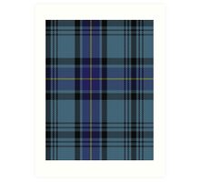 00484 Hannay Blue Clan/Family Tartan  Art Print