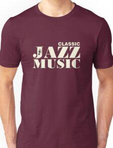 White Classic jazz music Unisex T-Shirt